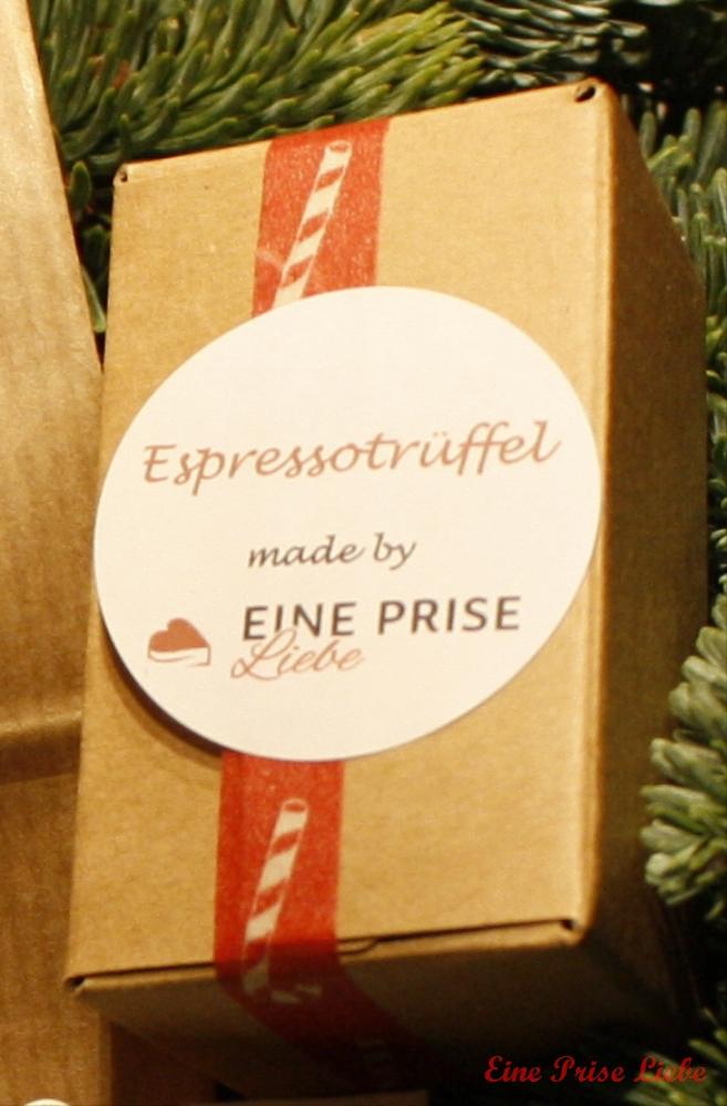 Weihnachtsschickerei Espressotrüffel